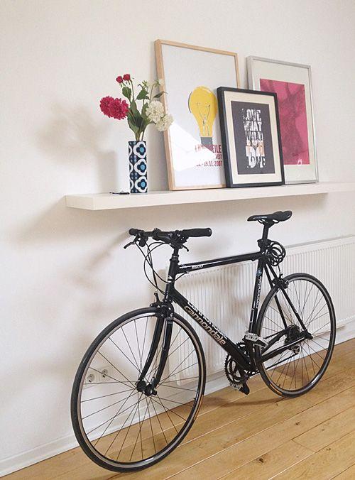 La bici en casa