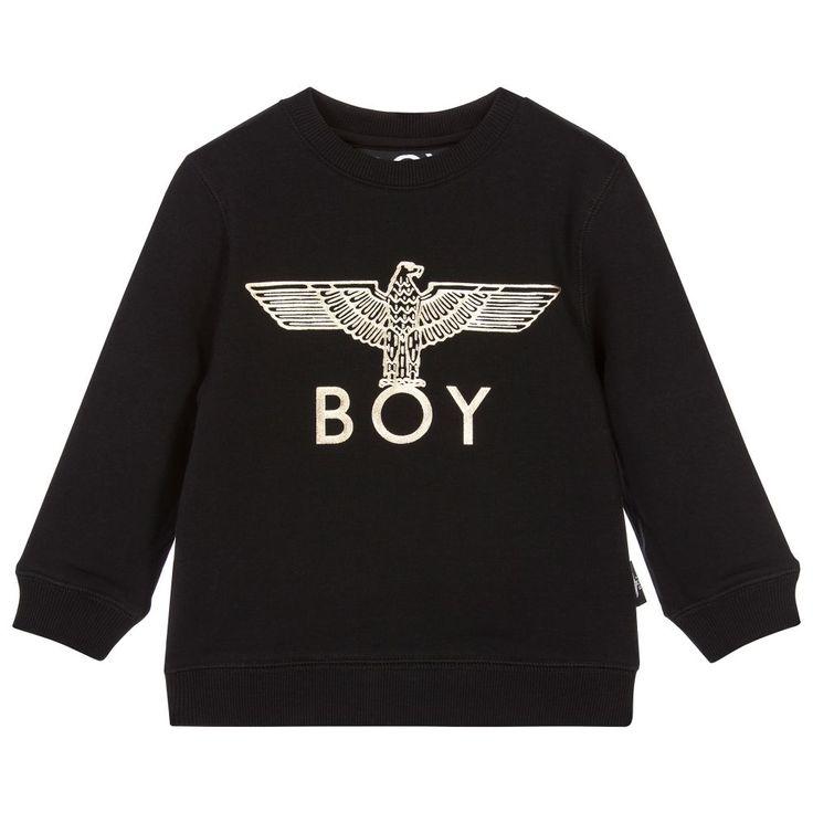 BOY London Black & Gold Eagle Sweatshirt at Childrensalon.com