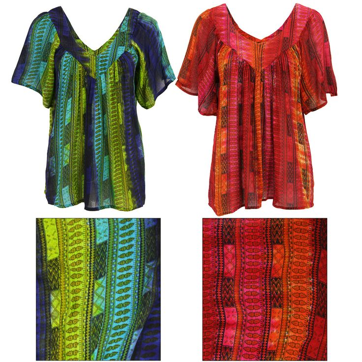 Jewel-Tone Striped Tie Dye Top