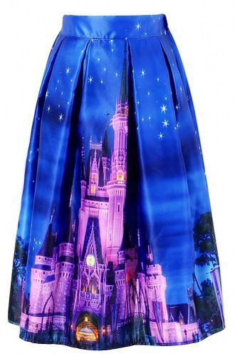Disney Discovery- Women's Castle Print Skirt