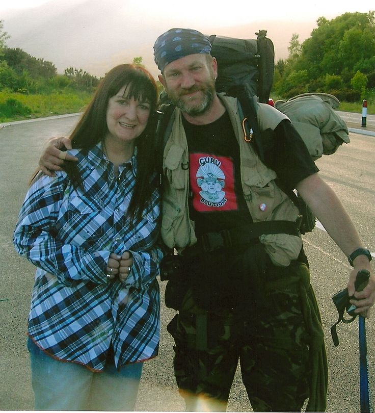 This is Tony Bailey (aka the walking man). There is a story here and as soon as I have time I'll post it...