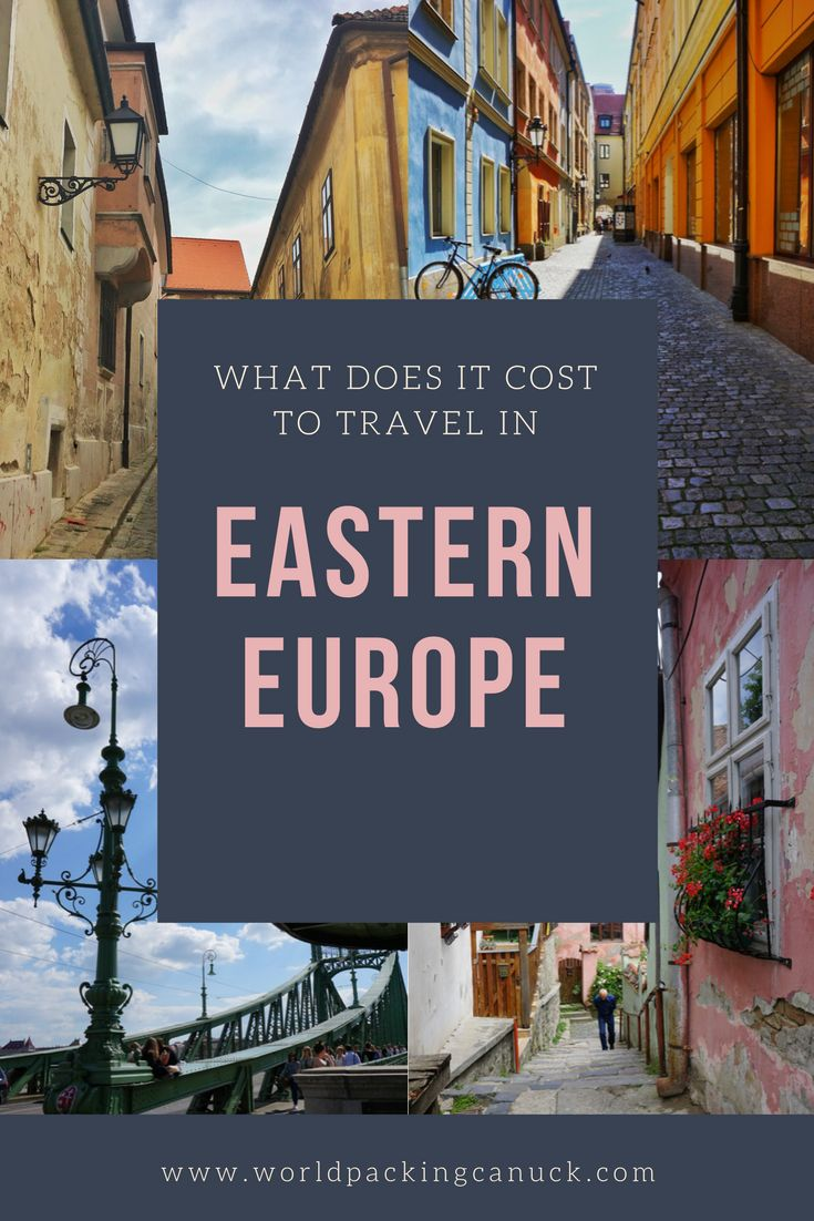 What does it cost to travel in eastern Europe? Find out with this detailed list of costs.