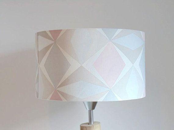 Abat-jour fait à la main en velours effet tissu blanc 25 cm plafond ou lampe