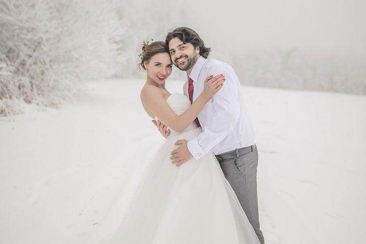 Romantic winter #wedding.