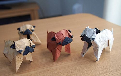 Origami Pugs | Flickr - Photo Sharing!