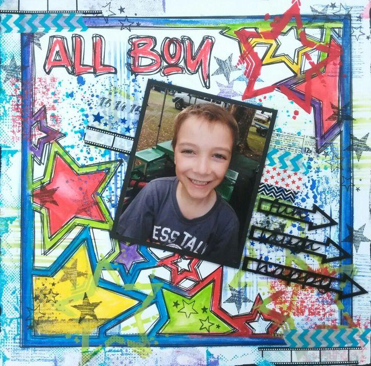 Scrapbooking all boy graffiti