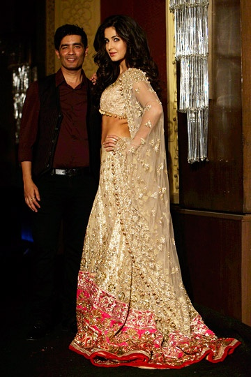 Katrina Kaif with Manish Malhotra at his couture show