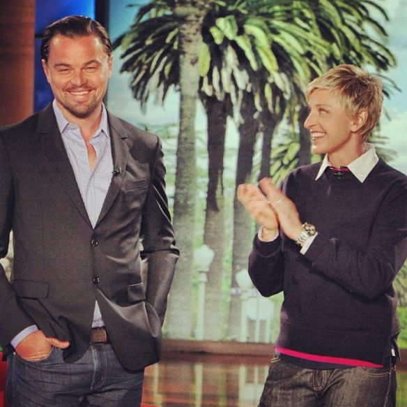 """Leonardo DiCaprio came by to talk about his Oscar nomination for """"The Wolf of Wall Street"""""""