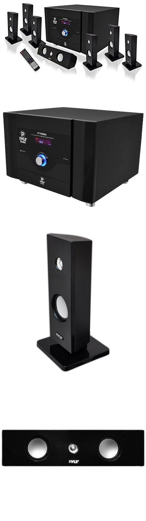 Home Theater Systems: New Pyle Bluetooth 7.1 Ch 500W Home Theater System Stereo Speaker Surround Sound BUY IT NOW ONLY: $216.73