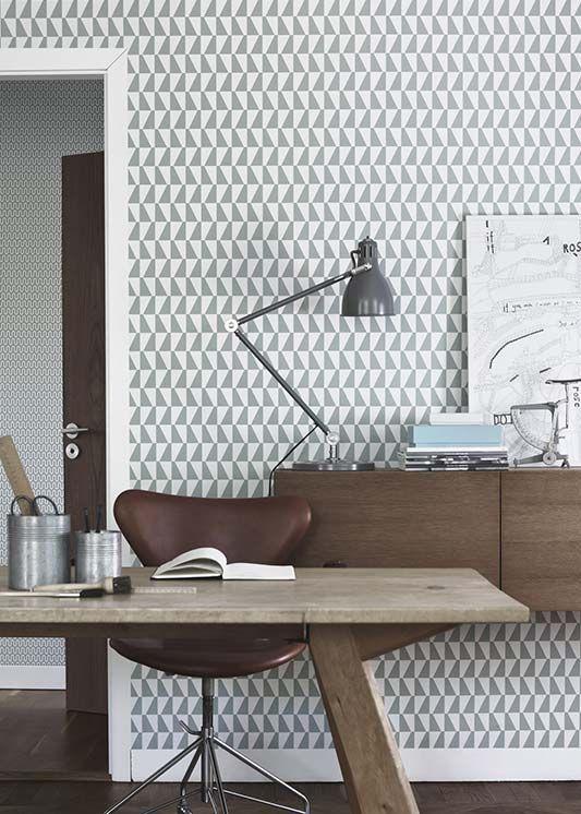 Vlies Tapeten F?rs Badezimmer : Office Wall Geometric Designs