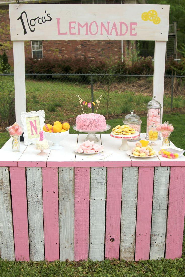 Sunshine & Lemonade first birthday party.  Sweet Little Details.