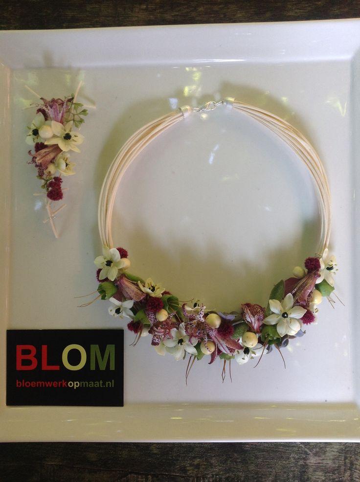 #bruidsketting en corsage fresh flowers #BLOM #bloemwerkopmaat