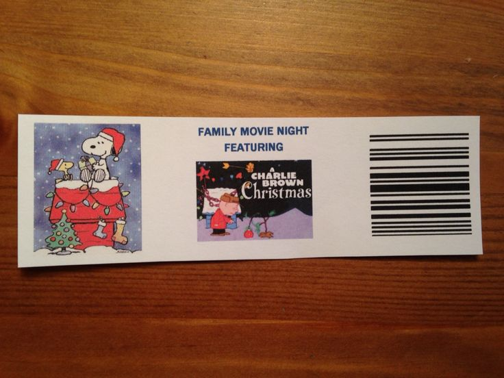 Charlie Brown Christmas Movie Night Tickets