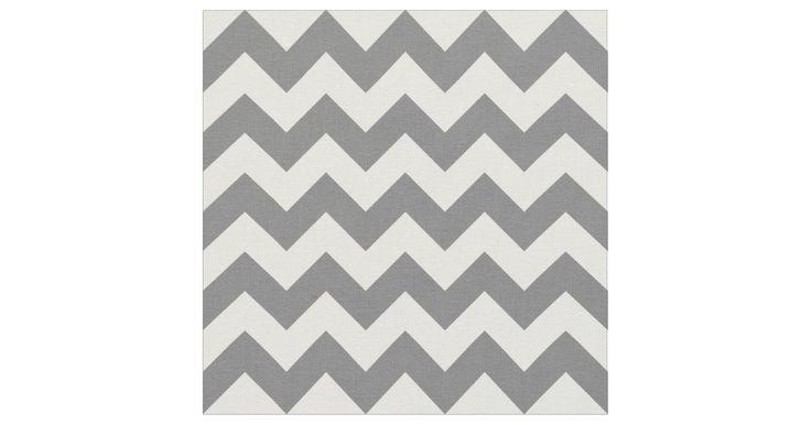 Grey Chevron Fabric, Nursery Fabric | Zazzle.co.uk