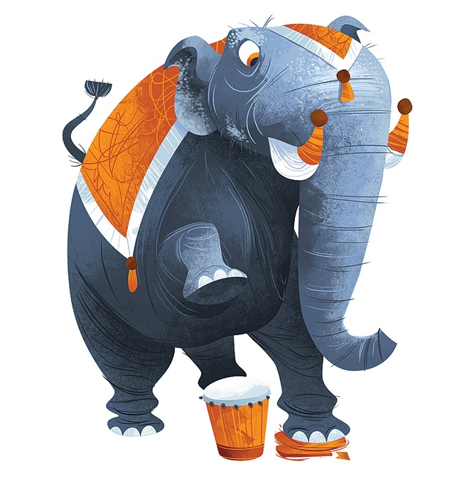 Elephant illustration. Love this style... check out www.bearprints.com.au