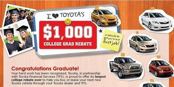 Graduating Can Earn You More Than Just That Piece Of Paper Let Your Degree Help You Make Money Immediately With The Colle Toyota Dealers Toyota College Grads