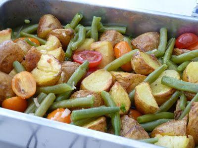 Winny, wat eten we vandaag?: Warme aardappel salade met sperzieboontjes