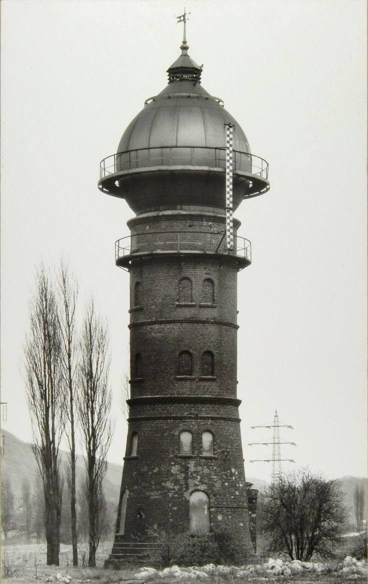 Bernd and Hilla Becher: Wassertürme (Water Towers), railway territory Hagen-Hengstey, Germany, 1913: Water Towers, Becher Water, Bernd Becher, Railway Territori, Germany Photos, Wassertürm Water, Towers Industrial, Architecture Photography, Bernd And Hilla Becher