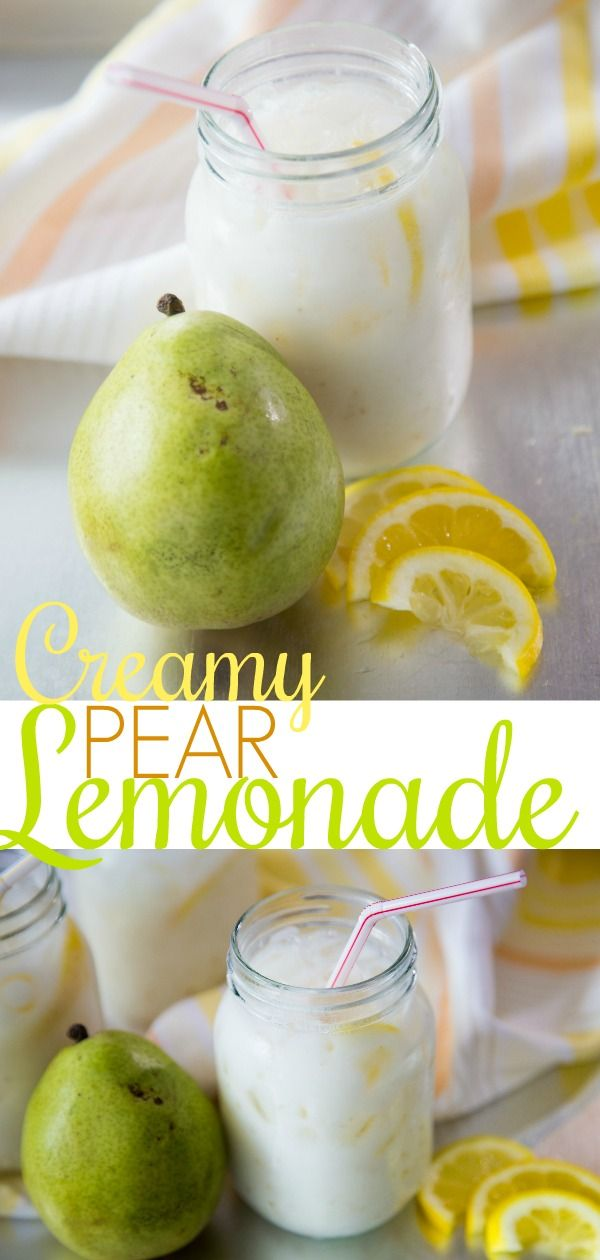 This creamy pear lemonade is the perfect nonalcoholic summer time drink.   – Clean, Fresh, Healthy Eating