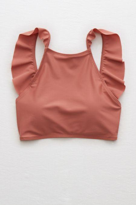 Aerie Crop Ruffle Bikini Top