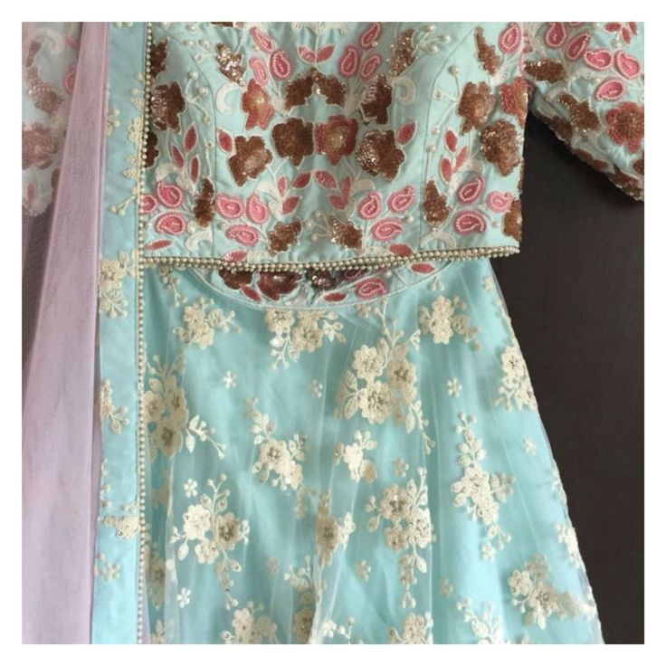 *NEW ARRIVAL*  Our Powder Blue and Pale Pink Princess Lehenga, ladies.  We needn't say more.  Shop on our website. Link in bio OR email us: ayesha@thepeachproject.in  #tpp #princess #royalty #desibride #desibridesmaids #indianbride #daywedding #summerwedding #indiansummer #pastels #floral #florallehenga #sangeet #engagement #desiwedding #americandesi #londondesi #torontolife #indianweddingsvancouverbc