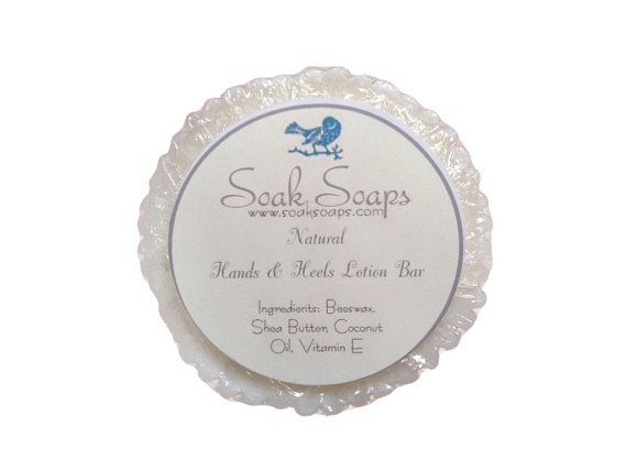 Natural Hands & Heels Lotion Bar by SoakSoaps on Etsy, $6.00