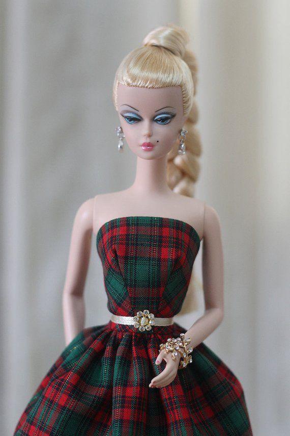 Christmas Silkstone Barbie Dress Holiday Barbie Dress
