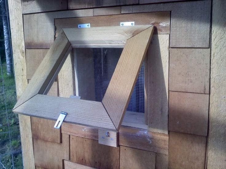 Ventilation For Chickens : Plexiglass window with ventilation for chicken coop