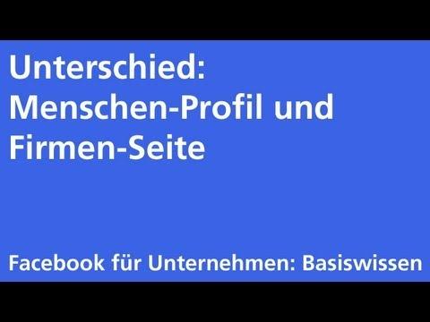 Facebook: Unterschied Profil und Seite