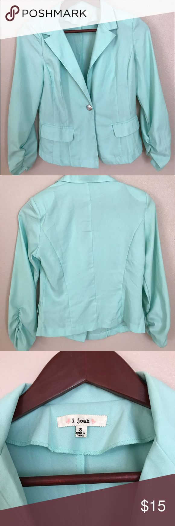 Lightweight Mint Blazer This lightweight mint blazer has only been worn once, and it is in great condition! i joah  Jackets & Coats Blazers
