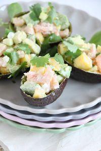 Gevulde avocado met garnalen. Een ideetje voor kerst?