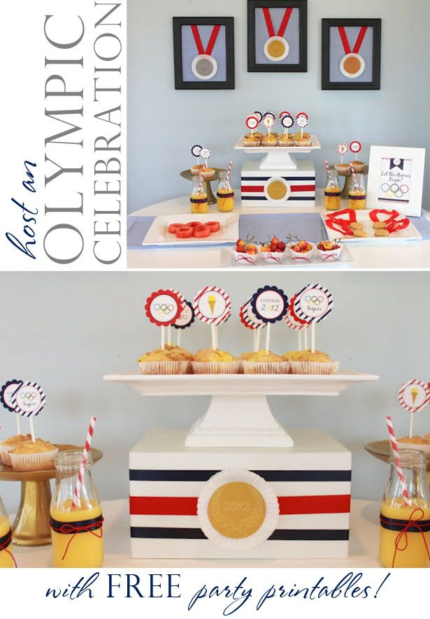 Free Olympic party printables from @Deanna at Mirabelle Creations. Shared by @Kim {The Celebration Shoppe}