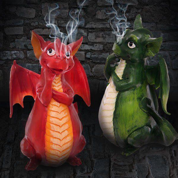 Handmade Dragon Incense Burner (Various Colors)