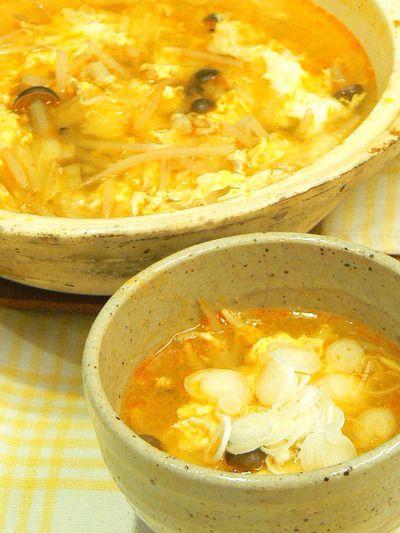 【うちレシピ】酸辣湯(サンラータン)スープ鍋★15分で完成