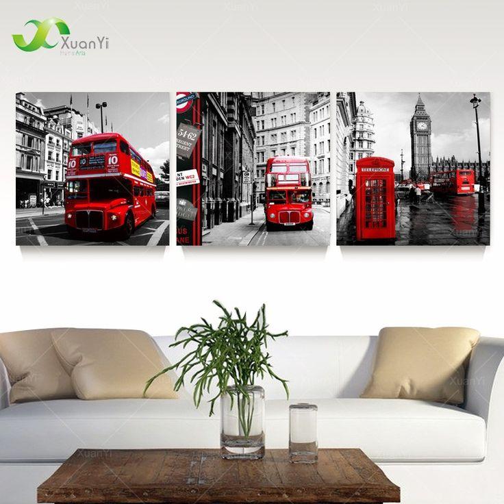 3 шт. холст стены искусства лондон пейзаж маслом домой декоративные настенные панно для спальни отпечатки на холсте без рамки PR179купить в магазине XuanYi Home Arts co., LtdнаAliExpress