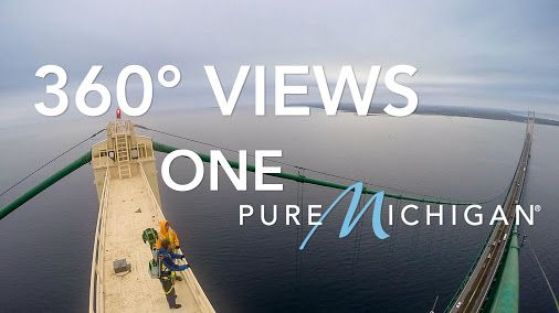 Rare 3D View from the Top of Mackinac Bridge Using Google Maps Street View | Pure Michigan Connect