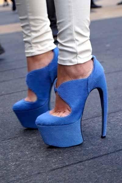 #blue #High Heels #2dayslook #highstyle #heelsfashion www.2dayslook.com