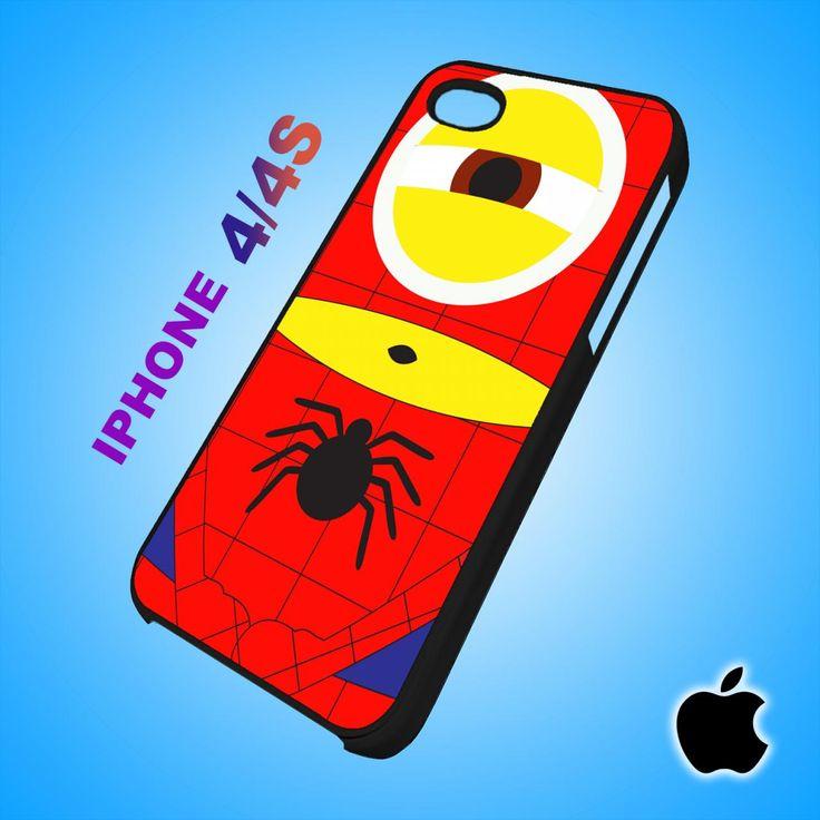 Despicable Me Avengers Spiderman Minion iPhone 4/4S Case Durable Plastic