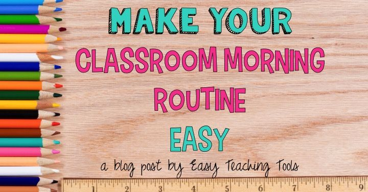 Do you want to make your classroom morning routine easy?. I've got a few things that to help make our classroom morning routine easy.
