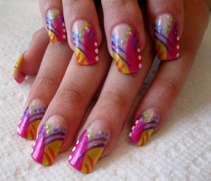 94 best african inspired nails images on pinterest belle nails colorful nails prinsesfo Images
