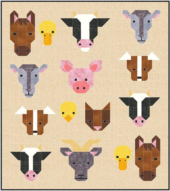 Best 25+ Farm quilt ideas on Pinterest | Farm animal quilt, Cowboy ... : cow quilt pattern - Adamdwight.com