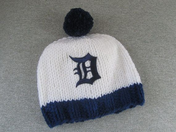 DETROIT TIGERS Hand Knit Baby Hat  Detroit Tigers by UpNorthKnits, $25.00