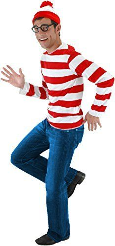 Elope Wheres Waldo Adult Costume Kit, Medium / Large #Adult #Costume #Elope #Large #Medium #MensHalloweenCostumes #Waldo #Where's Halloween Spirit