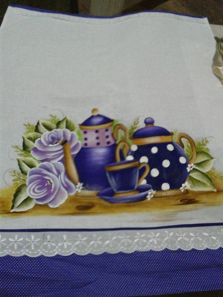 Pintura feita por Mayara Landim no curso café e pinturas com a professora Marli Couto!