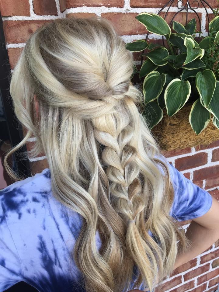 Unique braided half hairstyle, perfect for prom - # prom #unique #style # for #braided