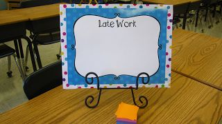 Create your own late work board to keep track of these pesky assignments!  Forever in Fifth Grade: Manic Monday-Late Work Board
