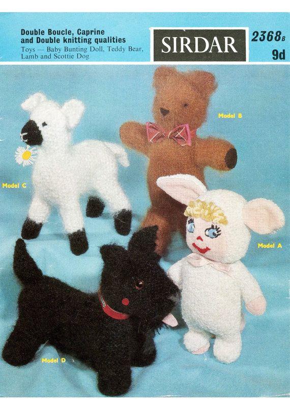 Toy Scottie Dog Knitting Pattern Free