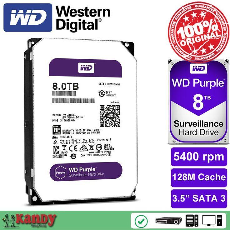 Western Digital WD Purple 8TB hdd NVR system sata 3.5 disco duro interno internal hard disk hard drive disque dur desktop server //Price: $363.30//     #Gadget