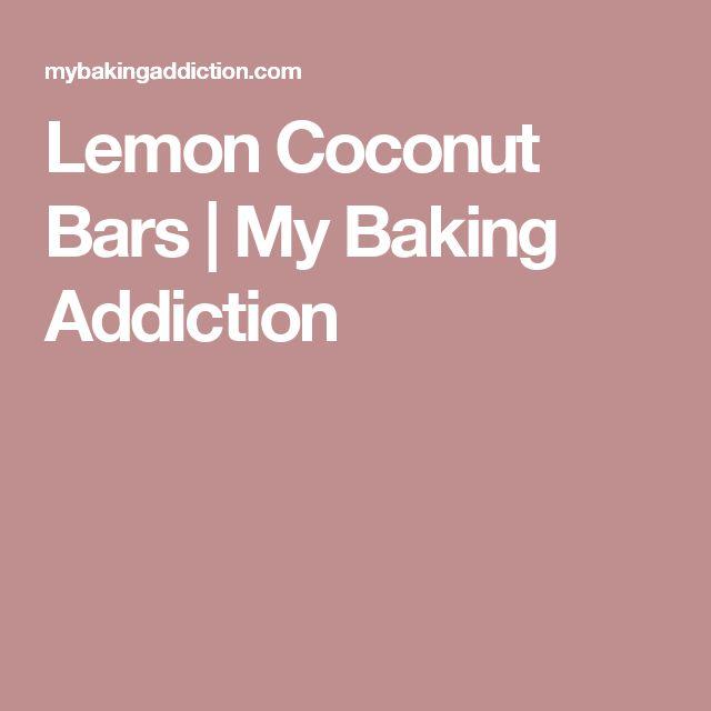 Lemon Coconut Bars | My Baking Addiction
