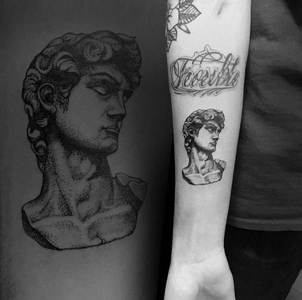 Michelangelo's David by Cuttlefish Tattoo